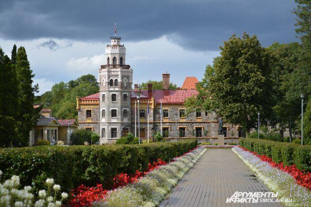 Замок в Сигулде, Латвия.