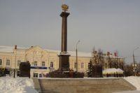 Стела города-героя в Вязьме.