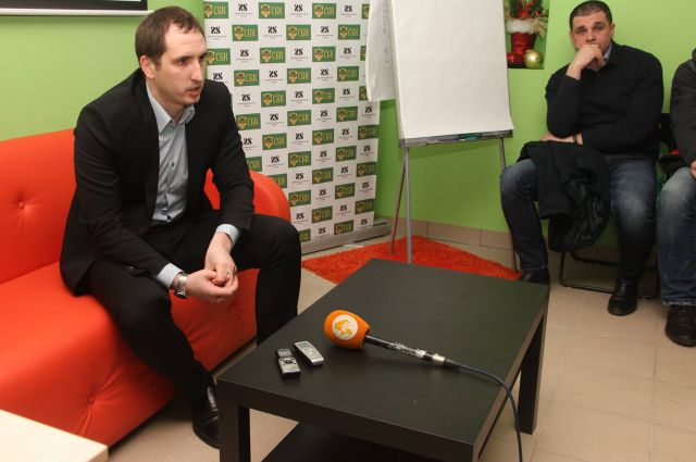 Ростислав Ровбель на открытом интервью.
