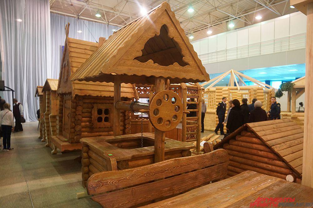 Стоимость деревянного колодца договорная.