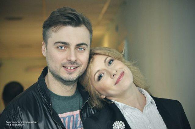 Елена Кравец c мужем