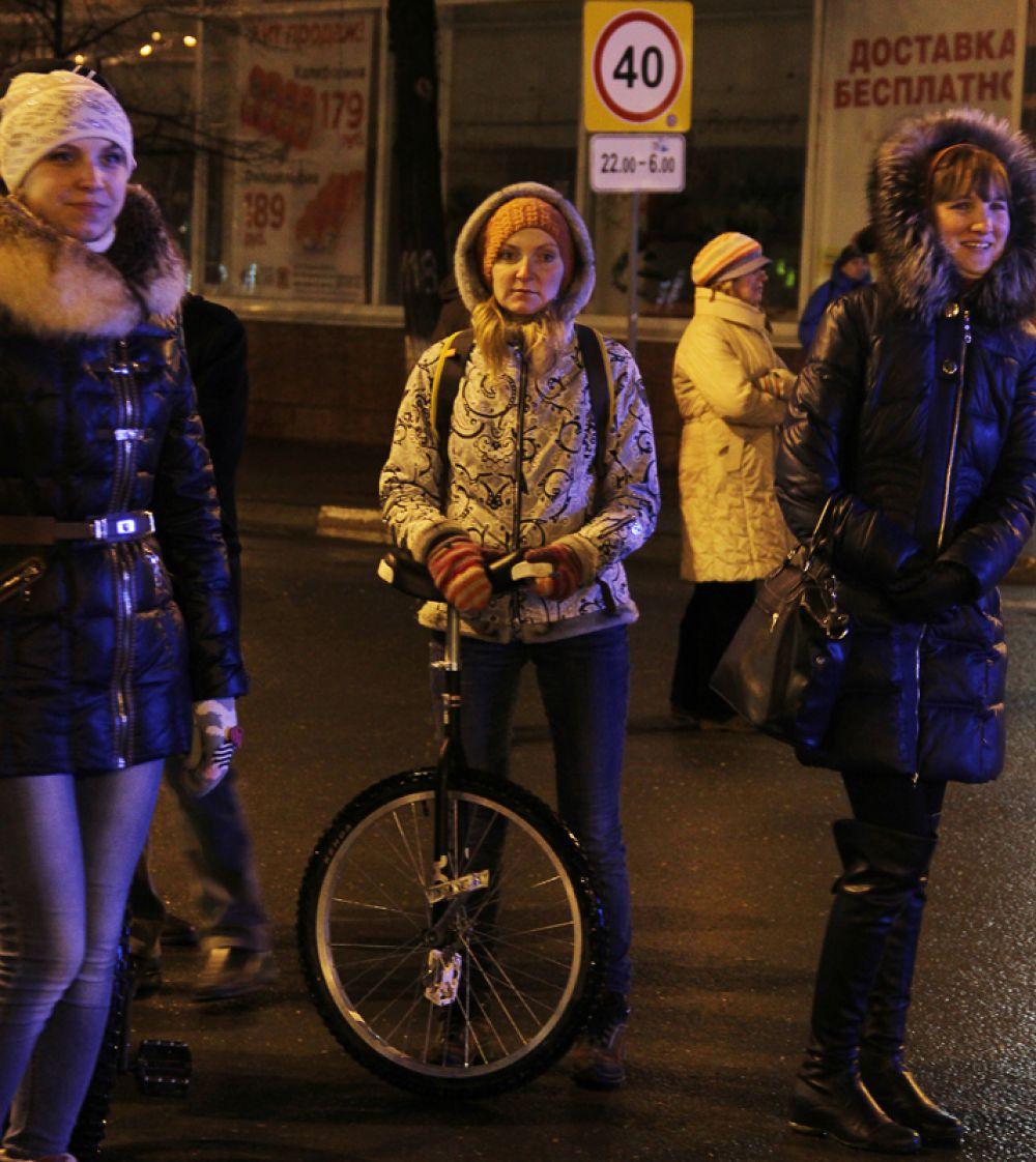 Многие прибыли на велосипедном транспорте