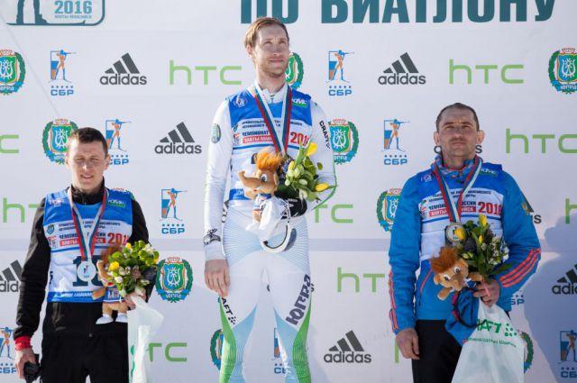 Церемония награждения призёров масс-старта.