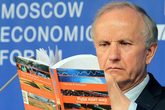 Бывший министр финансов Польши Гжегож Колодко на Московском экономическом форуме в МГУ.