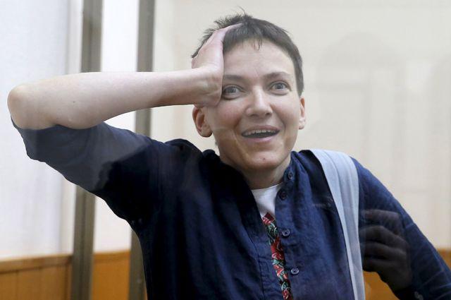 Надежда Савченко во время оглашения приговора суда