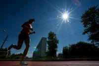 Спортсменка во время соревнований в дисциплине «комбайн» на Чемпионате России по современному пятиборью среди женщин.