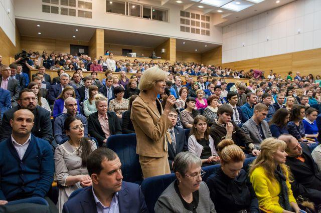 Встреча жителей Ханты-Мансийска с губернатором Югры.