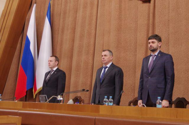 Бахарев (слева), Константинов (в центре), Козенко (справа)