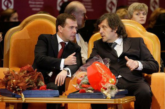 Дмитрий Медведев и Эмир Кустурица