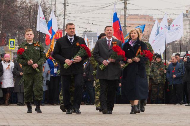 Открытие всероссийской «Вахты памяти» в Туле.