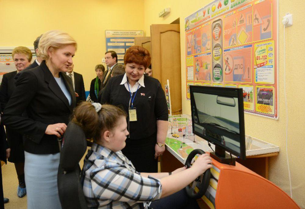 Посетила она и урок второклассников с особенностями развития.