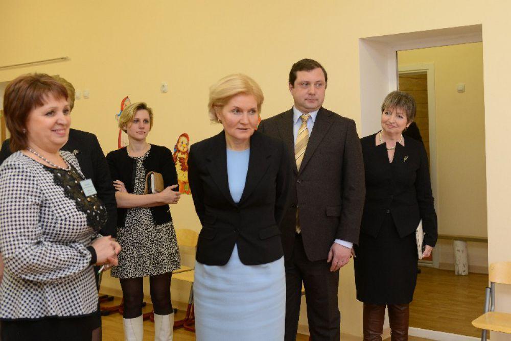 Ольга Голодец проинспектировала все помещения детсада.
