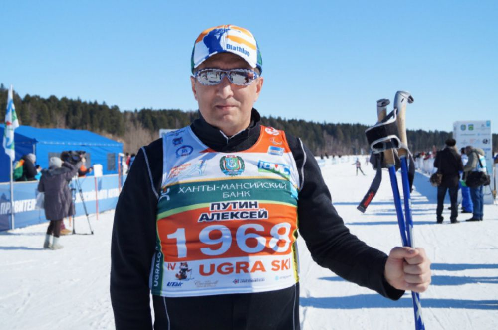 Свои 5 километров с легкостью преодолел заместитель губернатора Югры Алексей Путин.