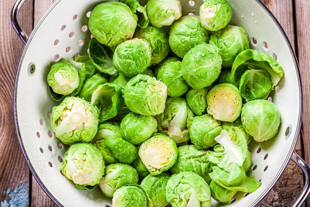 Брюссельская капуста — 120 мг.