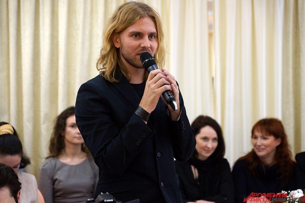 Член жюри, специальный гость из Москвы, кастинг-директор конкурса Михаил Токарев.