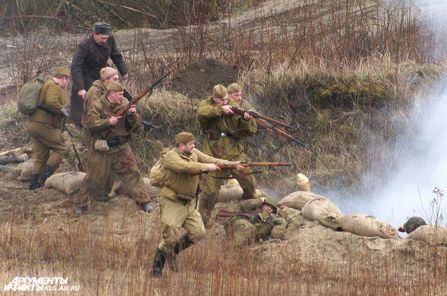 Реконструкция боя за взятие Кенигсберга.