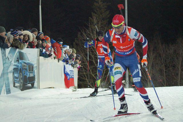 Уле-Эйнар Бьорндален на этапе Кубка мира в Ханты-Мансийске.