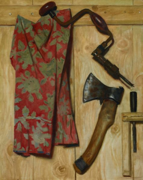 «Натюрморт с топором и коловоротом». 1979 год