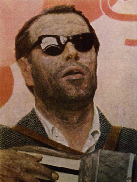 Триптих «Опаленые огнем войны. Уличный певец», 1962-1964 год