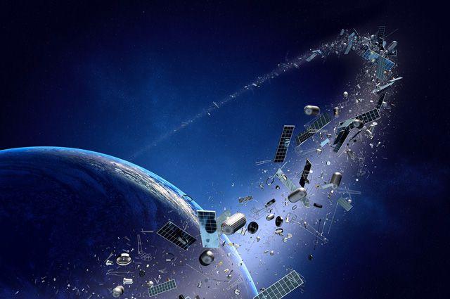 Из-за космического мусора Земля плохо просматривается из космоса.