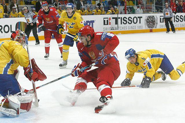 Чемпионат мира по хоккею-2007. Матч между сборными России и Швеции.
