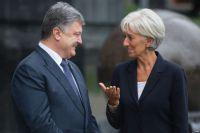Президент Украины Петр Порошенко и директор-распорядитель МВФ Кристин Лагард