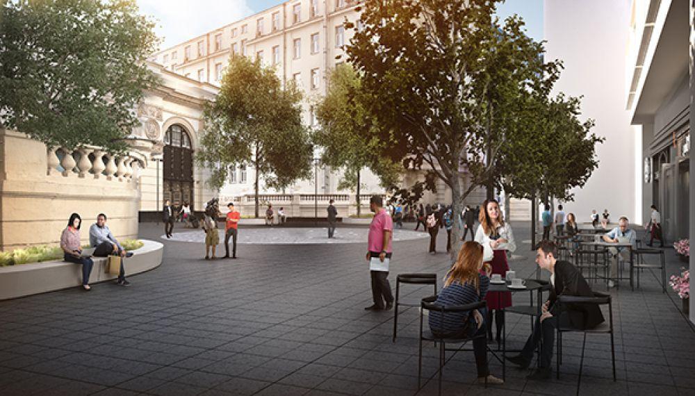 В этом году по программе «Моя улица» изменится и Садовое кольцо. Архитекторы предлагают вернуть на него сады. Проектом предусмотрена высадка порядка 1,5 тысяч новых деревьев. Благодаря этому в центре столицы появится около 100 новых скверов и озелененных площадей. Это приблизит Садовое кольцо к историческому облику и сделает улицу более комфортной. На фото проект площади у метро «Арбатская».
