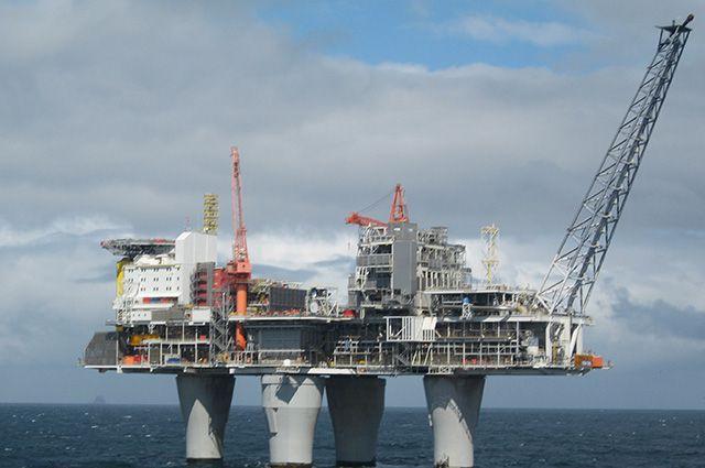Платформа Troll в Северном море.