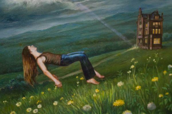 Картина «Летний сон перед грозой при посещении таинственного дома».