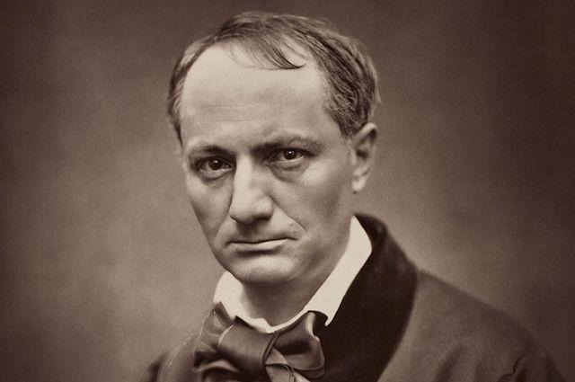 Шарль Бодлер, фрагмент фотографии Этьена Каржа. 1862 год.
