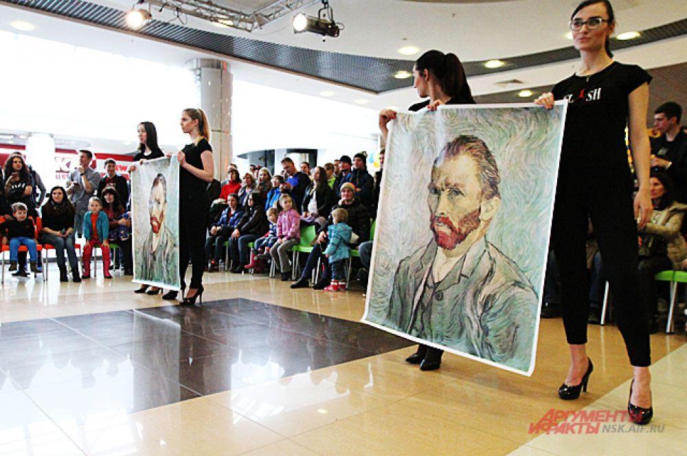 Ван Гог скептически наблюдал за происходящим с портретов.