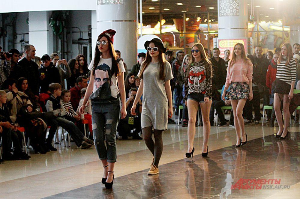 На соревновании можно было не только посмотреть на бегущих на шпильках, но и познакомиться с тенденциями моды.