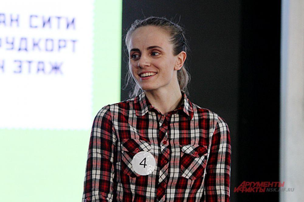 Победила в забеге мужественная девушка Анна, она поставила рекорд дистанции.