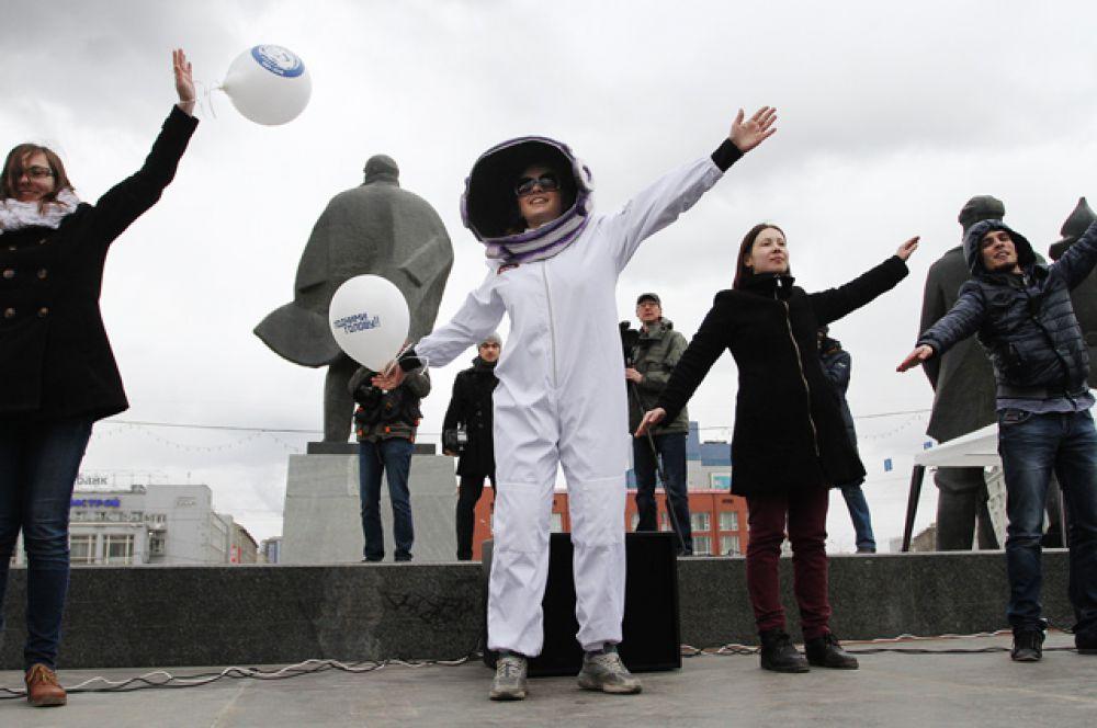 И устроили импровизированный танец «космических рейнджеров».