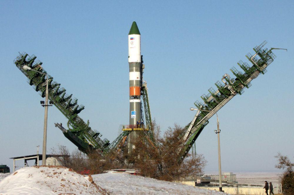 Несколько минут до запуска ракетоносителя «Прогресс М-25М»