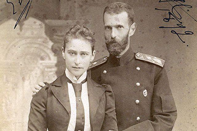Сергей Александрович Романов с женой.