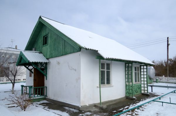 Домики, в которых Гагарин и Королев жили последние дни перед стартом 12 апреля 1961 года.