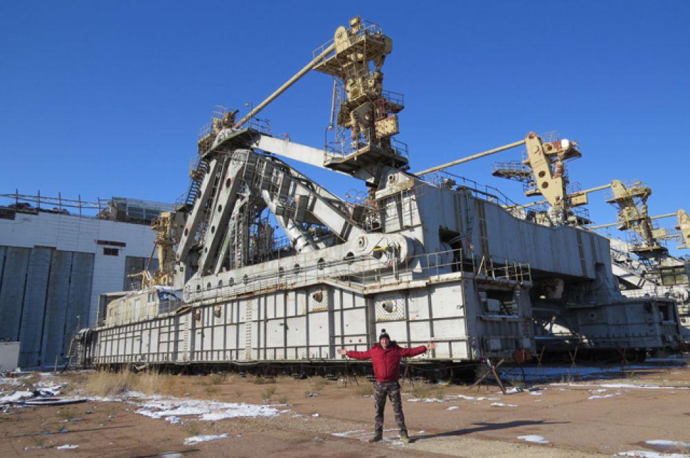 Транспортировочная платформа космического корабля «Буран».