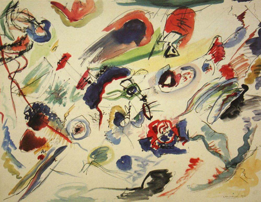 «Без названия (Первая абстрактная акварель)», 1910