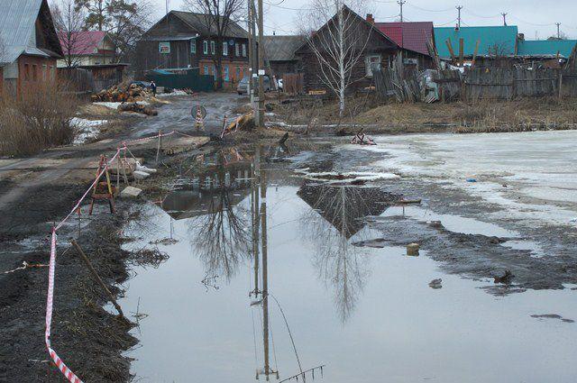 Подтопление дамбы, разделяющей верхний и нижний пруды по ул. Азаматовская, в настоящее время ликвидировано.