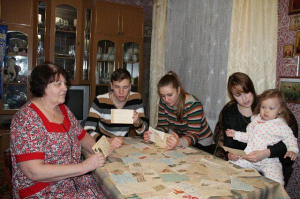 Перечитываем письма дедушки с бабушкой, семья Ткачёвых, посёлок Орловский Орловского района