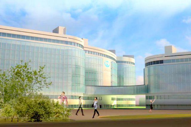 Эскизный проект перинатального центра в Сургуте.