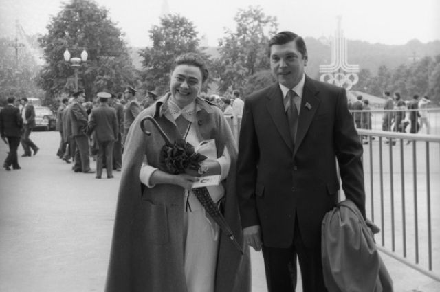 Галина Брежнева и Юрий Чурбанов, середина‰ 1980-х гг .