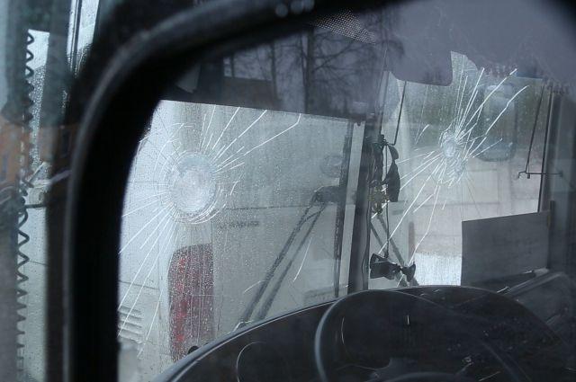 Повреждения в стеклах выглядят пулевыми отверстиями