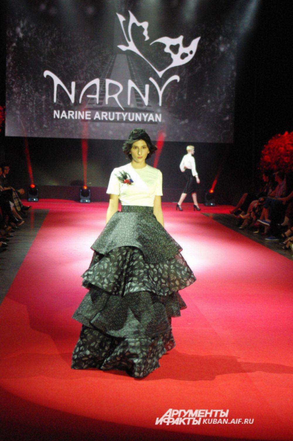 Роскошное платье от Наринэ Арутюнян.