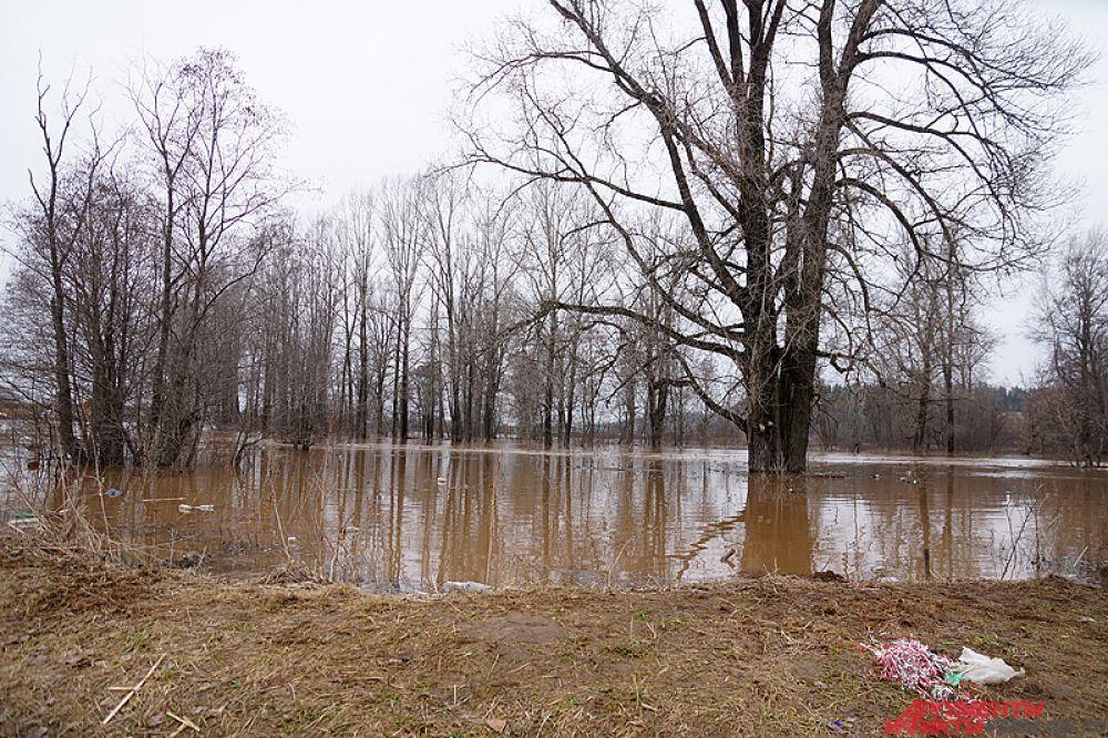 Часть села Кукуштан ушла под воду в минувшие выходные.