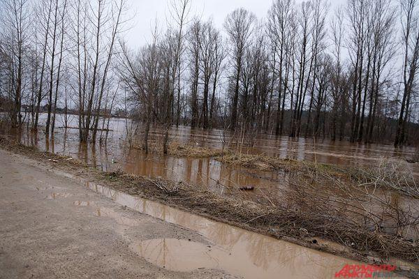 После резкого потепления из берегов вышла река Бабка.