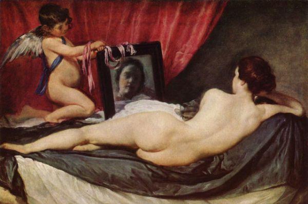 Продолжение этого сюжета можно найти также в шедеврах Диего Веласкеса, например, в его картине «Венера с зеркалом» (около 1644 – 1648).