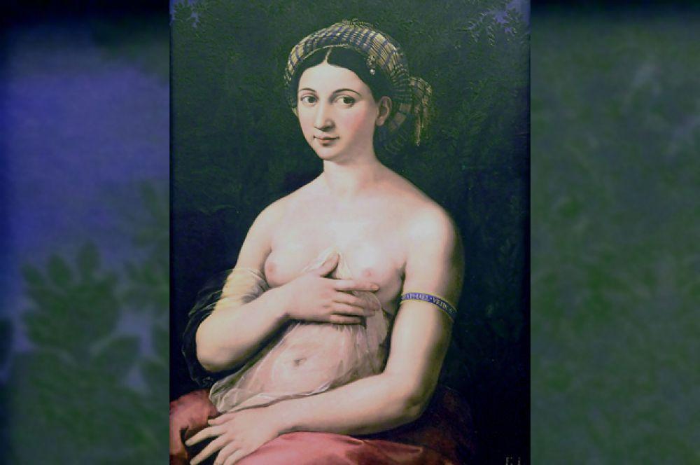 Продолжение этой темы — любви и красоты, воплощенных в образе прекрасной женщины — можно найти в произведении Рафаэля «Портрет молодой женщины, или Форнарина» (1518–1519).