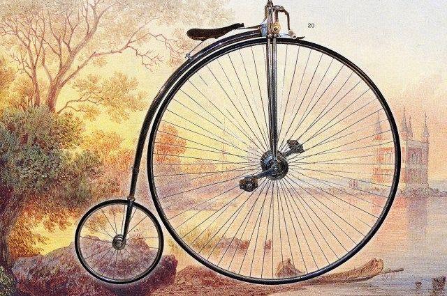 первые велосипеды фото
